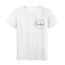 T-Shirt série limitée qualité supérieur Messages du coeur pastis
