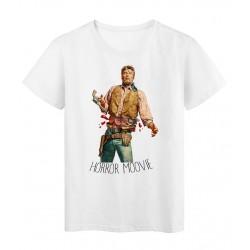 T-Shirt Collage vintage horror cowboy artiste Série limitée qualité supérieur
