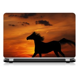 Stickers Autocollants ordinateur portable PC cheval