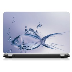Stickers Autocollants ordinateur portable PC poisson ref 581