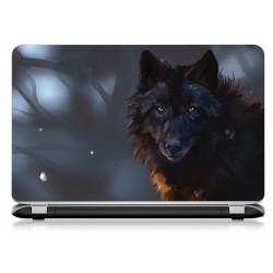 Stickers Autocollants ordinateur portable PC loup