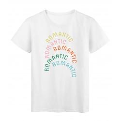 T-Shirt imprimé citation romantic