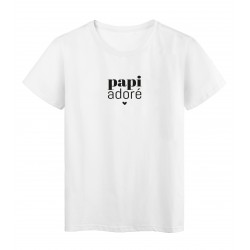 T-Shirt imprimé citation papi adoré
