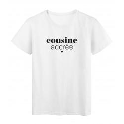T-Shirt imprimé citation Cousine adorée