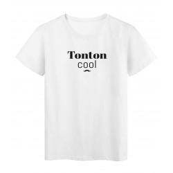 T-Shirt imprimé citation tonton cool