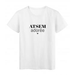 T-Shirt imprimé citation ATSEM adoré