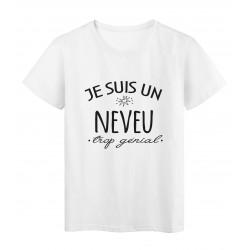 T-Shirt imprimé citation humour Je suis un neveu trop génial