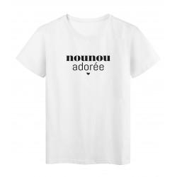 T-Shirt imprimé citation Nounou adorée