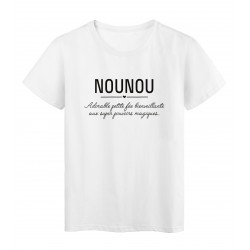 T-Shirt imprimé citation Nounou adorable petite fée