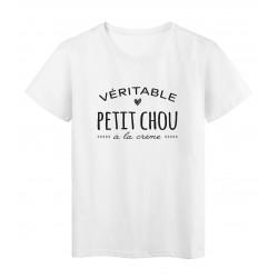 T-Shirt imprimé citation humour petit chou a la creme