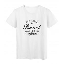 T-Shirt imprimé citation humour authentique bavard