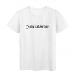 T-Shirt imprimé citation tu me retournes