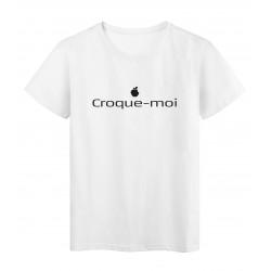 T-Shirt imprimé citation humour croque moi