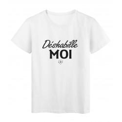 T-Shirt imprimé citation humour déshabille moi