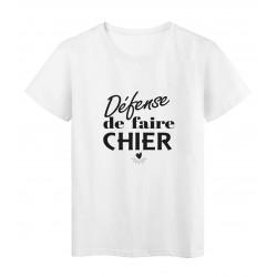 T-Shirt imprimé citation humour defence de faire chier