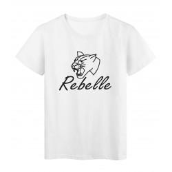 T-Shirt imprimé citation rebelle