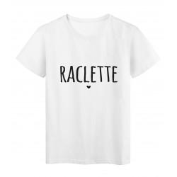 T-Shirt imprimé citation humour Raclette