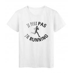 T-Shirt imprimé citation humour je peux pas j'ai muscu