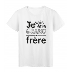 T-Shirt imprimé citation je vais etre grand frere
