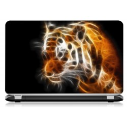 Stickers Autocollants ordinateur portable PC tigre