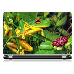 Stickers Autocollants ordinateur portable PC grenouille ref 718