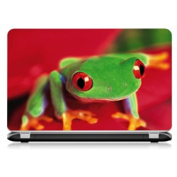 Stickers Autocollants ordinateur portable PC grenouille ref 719