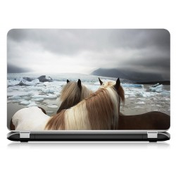 Stickers Autocollants ordinateur portable PC cheval