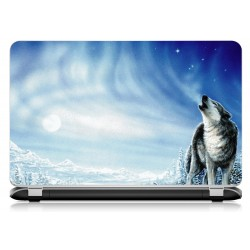 Stickers Autocollants ordinateur portable PC loup
