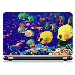 Stickers Autocollants ordinateur portable PC poissons