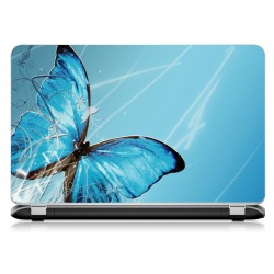 Stickers Autocollants ordinateur portable PC papillon bleu