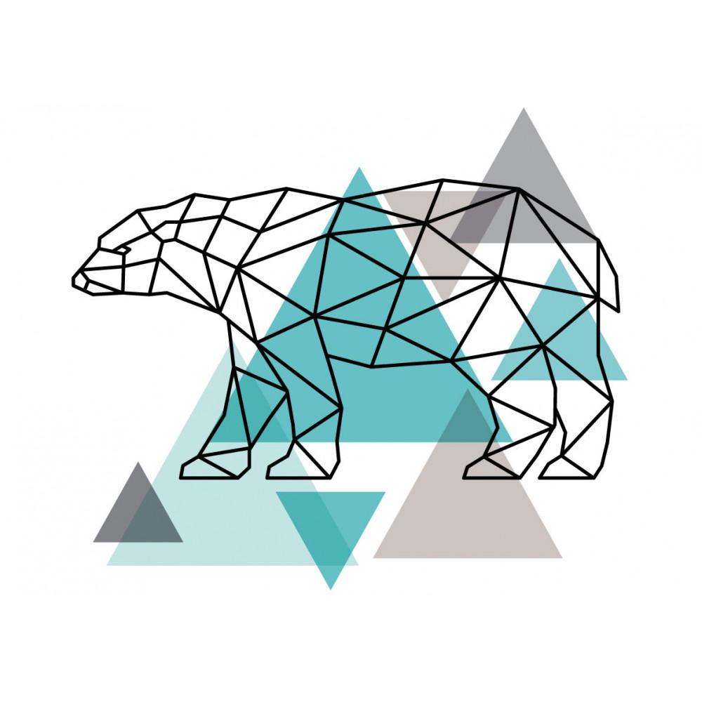 Stickers Autocollants enfant déco ours scandinave