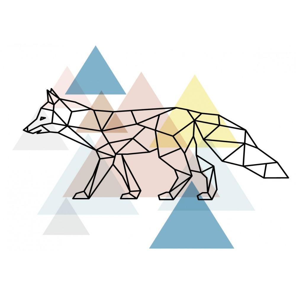 Stickers Autocollants enfant déco renard scandinave