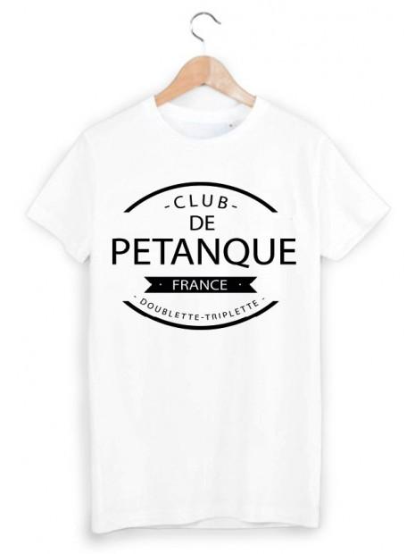 T-Shirt club de pétanque ref 874