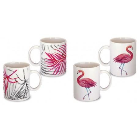 Lot de 2 Mugs flamant rose
