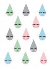 Stickers muraux déco enfants animaux de la foret ref 01
