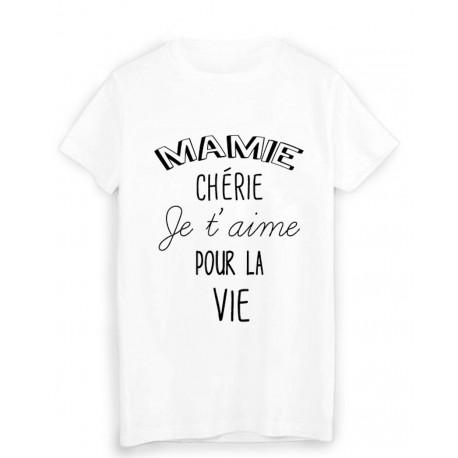 T-Shirt citation mamie chérie je t'aime