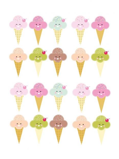 Planche Stickers muraux déco enfants glace