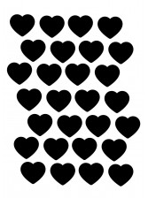 Planche A3  Stickers Autocollants enfant Cœurs réf 17
