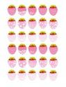 Stickers Autocollants enfant déco Planche A3 Fraises réf 20