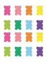 Stickers Autocollants enfant déco Planche A3 Oursons réf 22