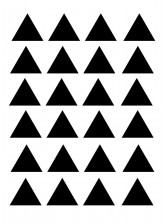Stickers Autocollants déco Planche A3 Triangles réf 32