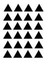 Stickers Autocollants déco Planche A3 Triangles réf 32
