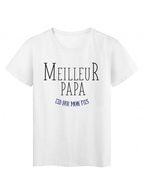 T-Shirt imprimé Fete des peres meilleur papa